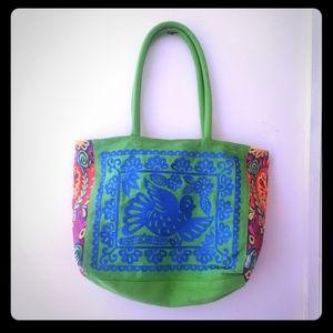 Hallmark embroidered canvas tote bag